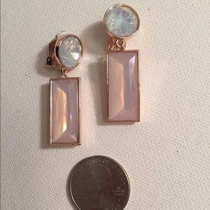 Tahari  Retro Style Geometric Drop Earrings